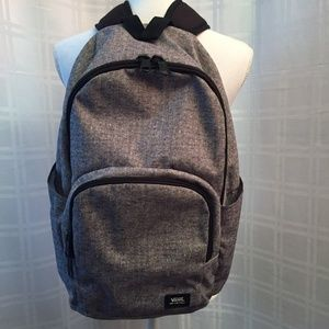 Gray and Black Vans Backpack